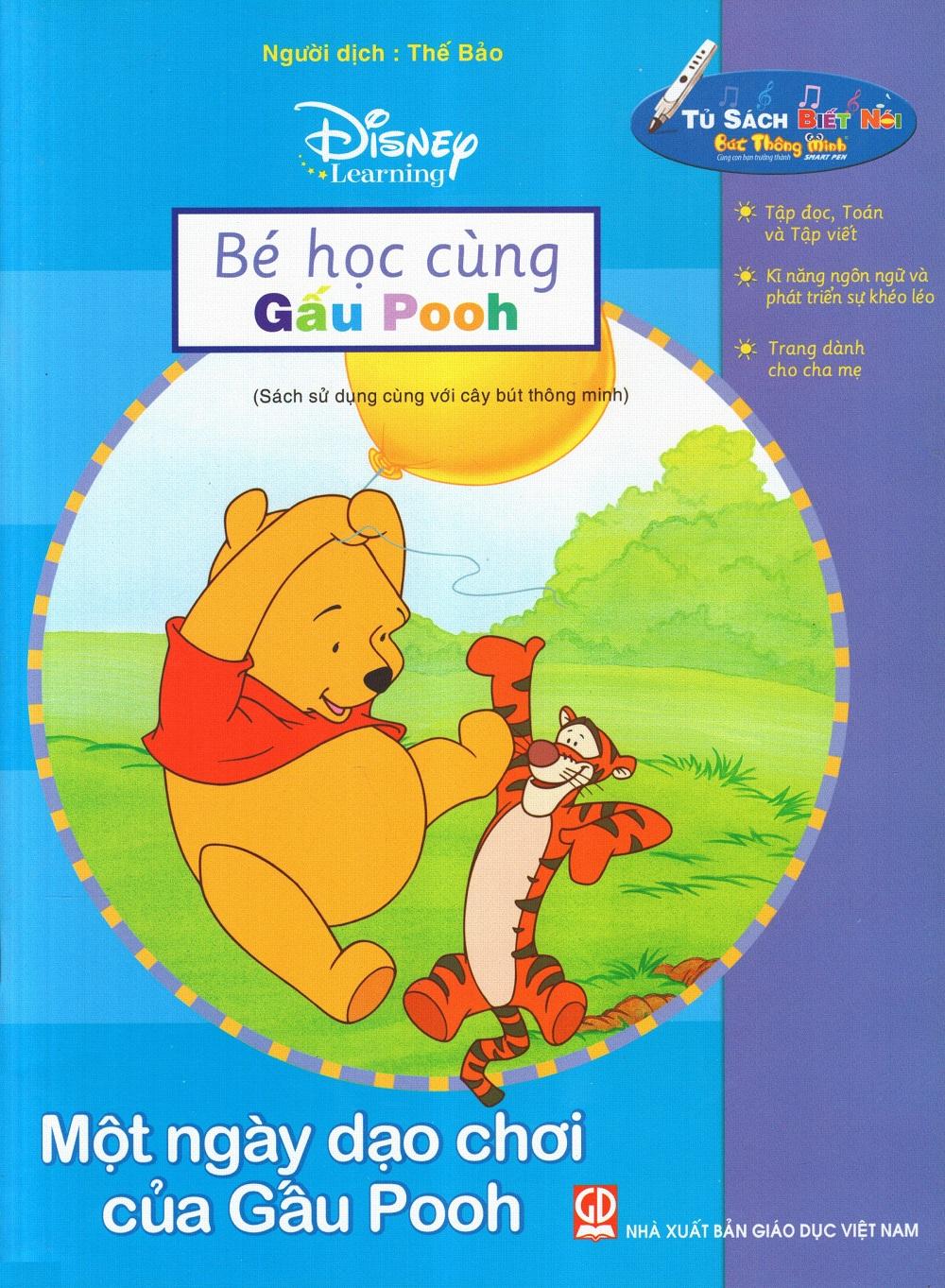 Bìa sách Bé Học Cùng Gấu Pooh: Một Ngày Dạo Chơi Của Gấu Pooh