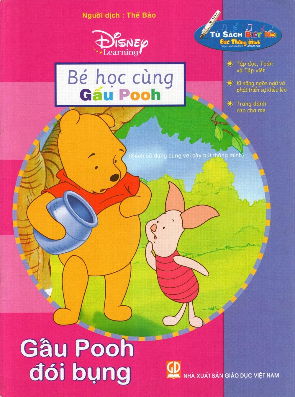 Bìa sách Bé Học Cùng Gấu Pooh: Gấu Pooh Đói Bụng