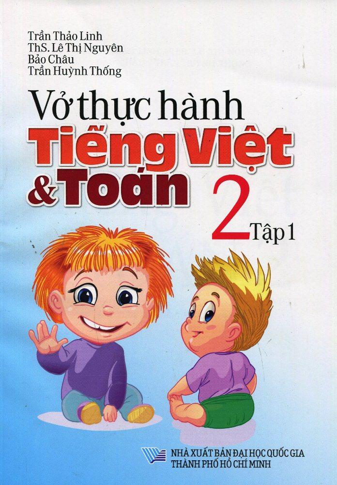 Bìa sách Vở Thực Hành Toán Tiếng Việt Lớp 2 (Tập 1)