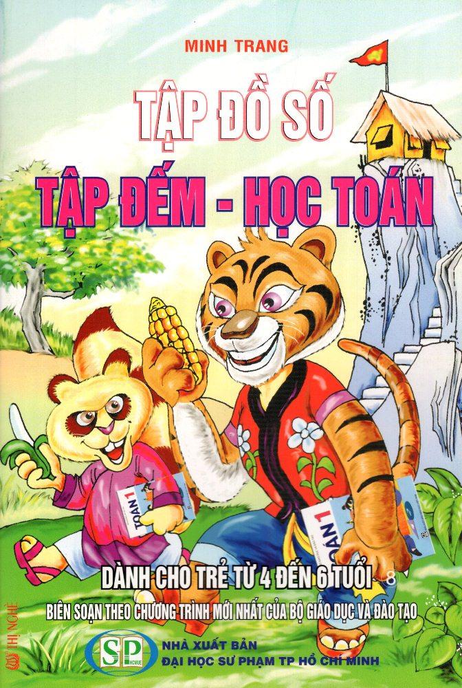 Bìa sách Tập Đồ Số - Tập Đếm - Học Toán Dành Cho Trẻ Từ 4 Đến 6 Tuổi (08)
