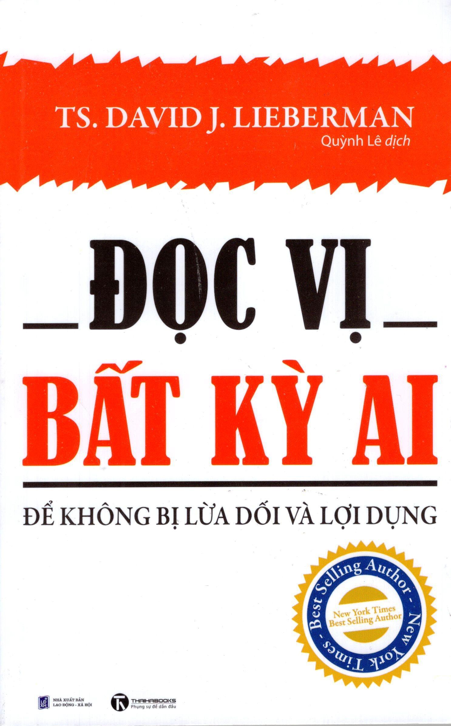 Bìa sách Đọc Vị Bất Kỳ Ai - Để Không Bị Lừa Dối Và Lợi Dụng