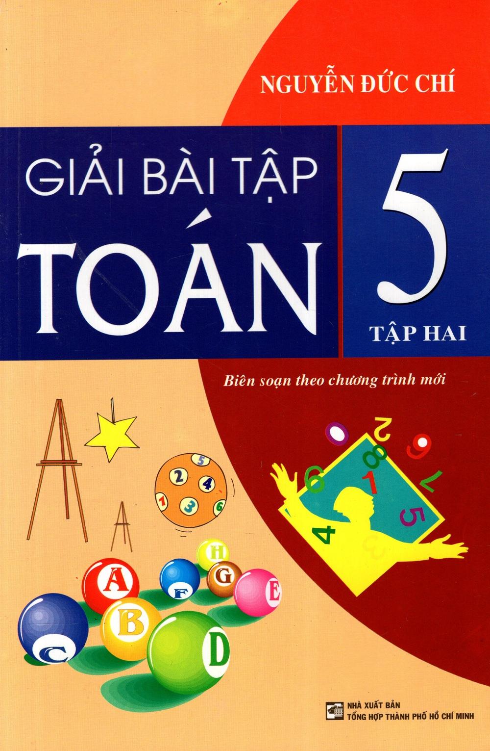 Bìa sách Giải Bài Tập Toán Lớp 5 (Tập 2)