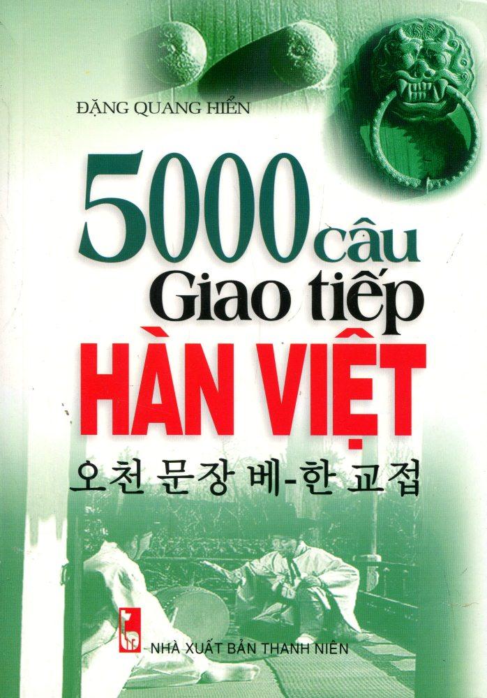 Bìa sách 5000 Câu Giao Tiếp Hàn - Việt (Kèm CD)
