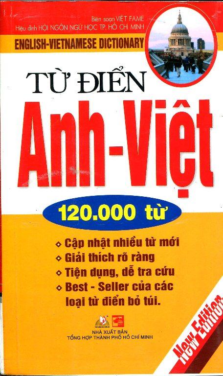 Bìa sách Từ Điển Anh - Việt (120.000 Từ)