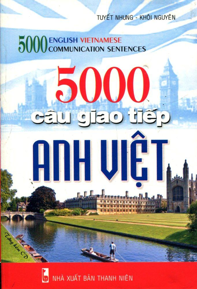 Bìa sách 5000 Câu Giao Tiếp Anh - Việt (Kèm CD)