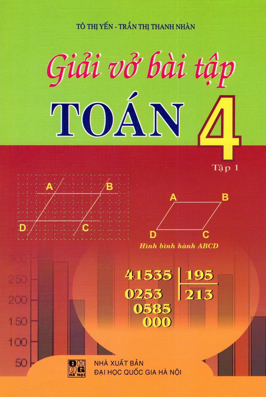 Bìa sách Giải Vở Bài Tập Toán Lớp 4 (Tập 1)