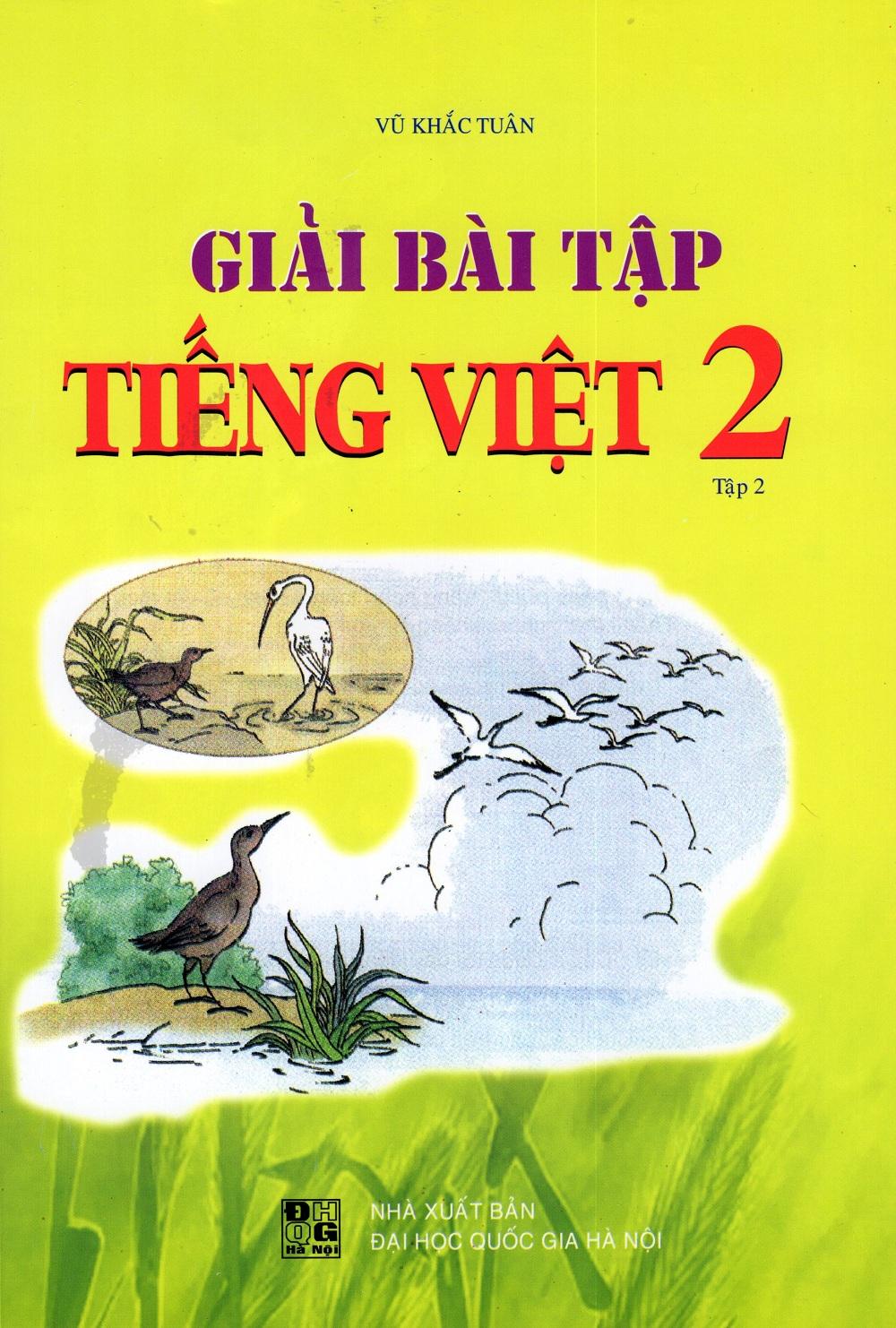 Bìa sách Giải Bài Tập Tiếng Việt Lớp 2 (Tập 2)