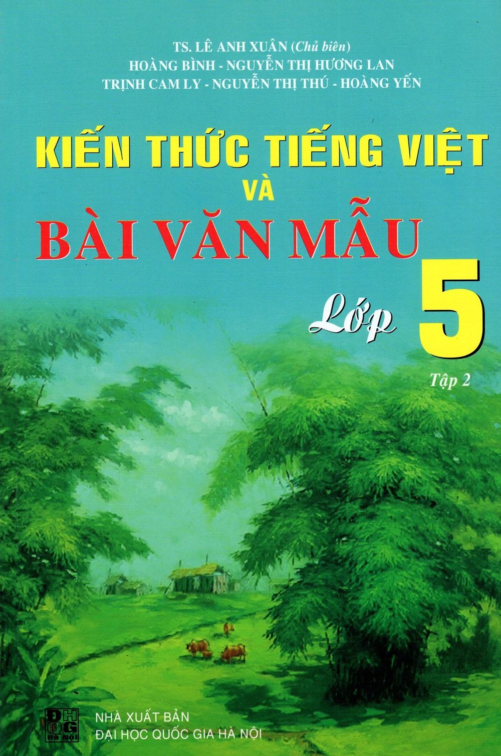 Bìa sách Kiến Thức Tiếng Việt Và Bài Văn Mẫu Lớp 5 (Tập 2)