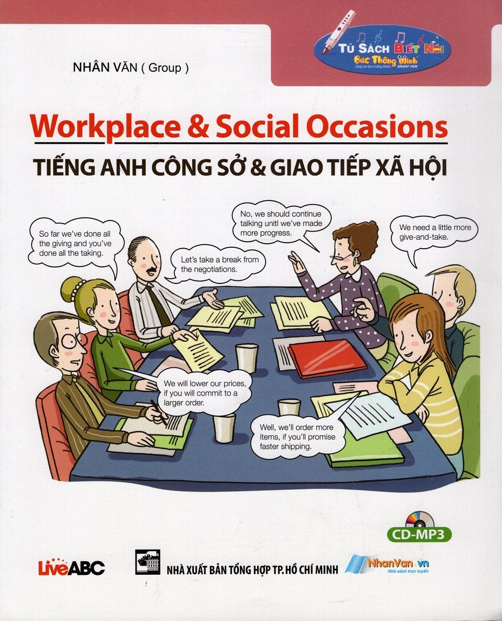 Bìa sách Tiếng Anh Công Sở  Giao Tiếp Xã Hội (Không CD)