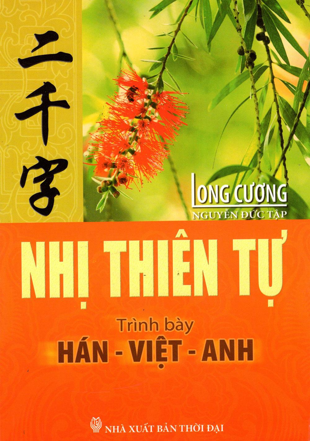 Bìa sách Nhị Thiên Tự (Trình Bày Hán - Việt - Anh)