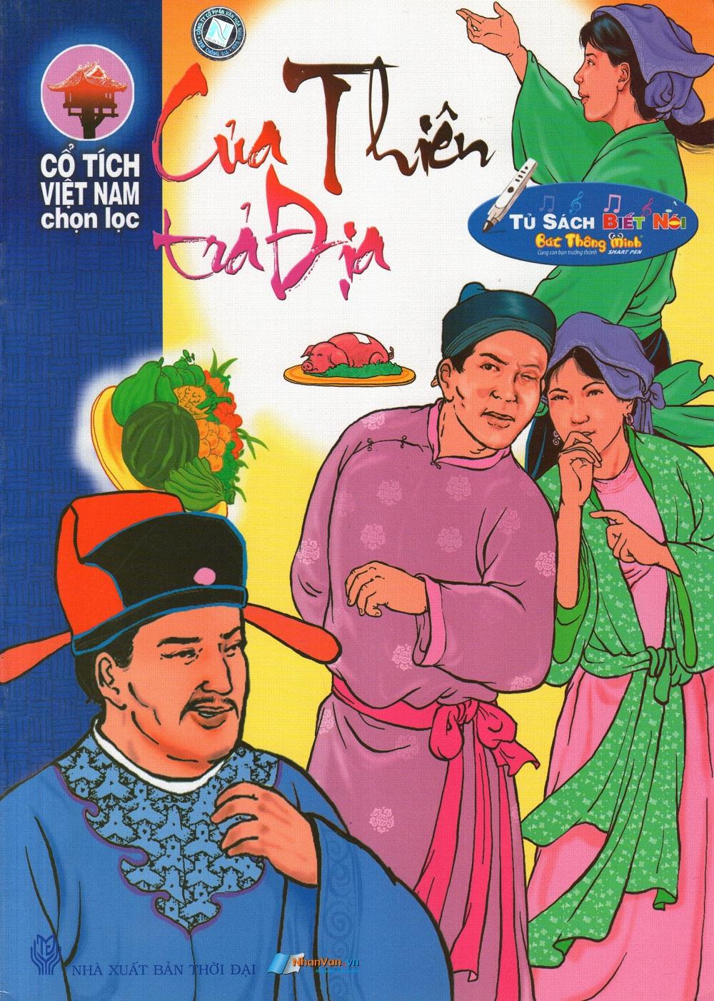 Bìa sách Cổ Tích Việt Nam Chọn Lọc: Của Thiên Trả Địa