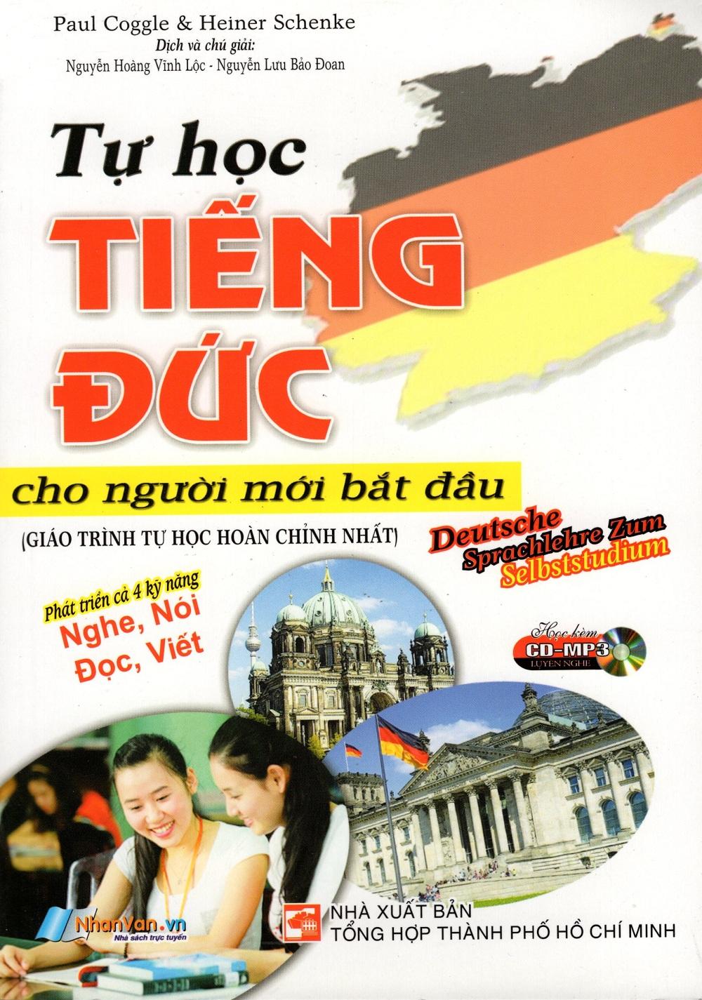 Bìa sách Tự Học Tiếng Đức Cho Người Mới Bắt Đầu (Kèm CD)