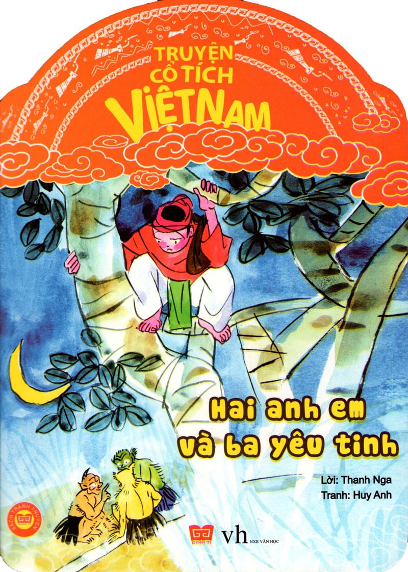 Bìa sách Truyện Cổ Tích Việt Nam - Hai Anh Em Và Ba Yêu Tinh