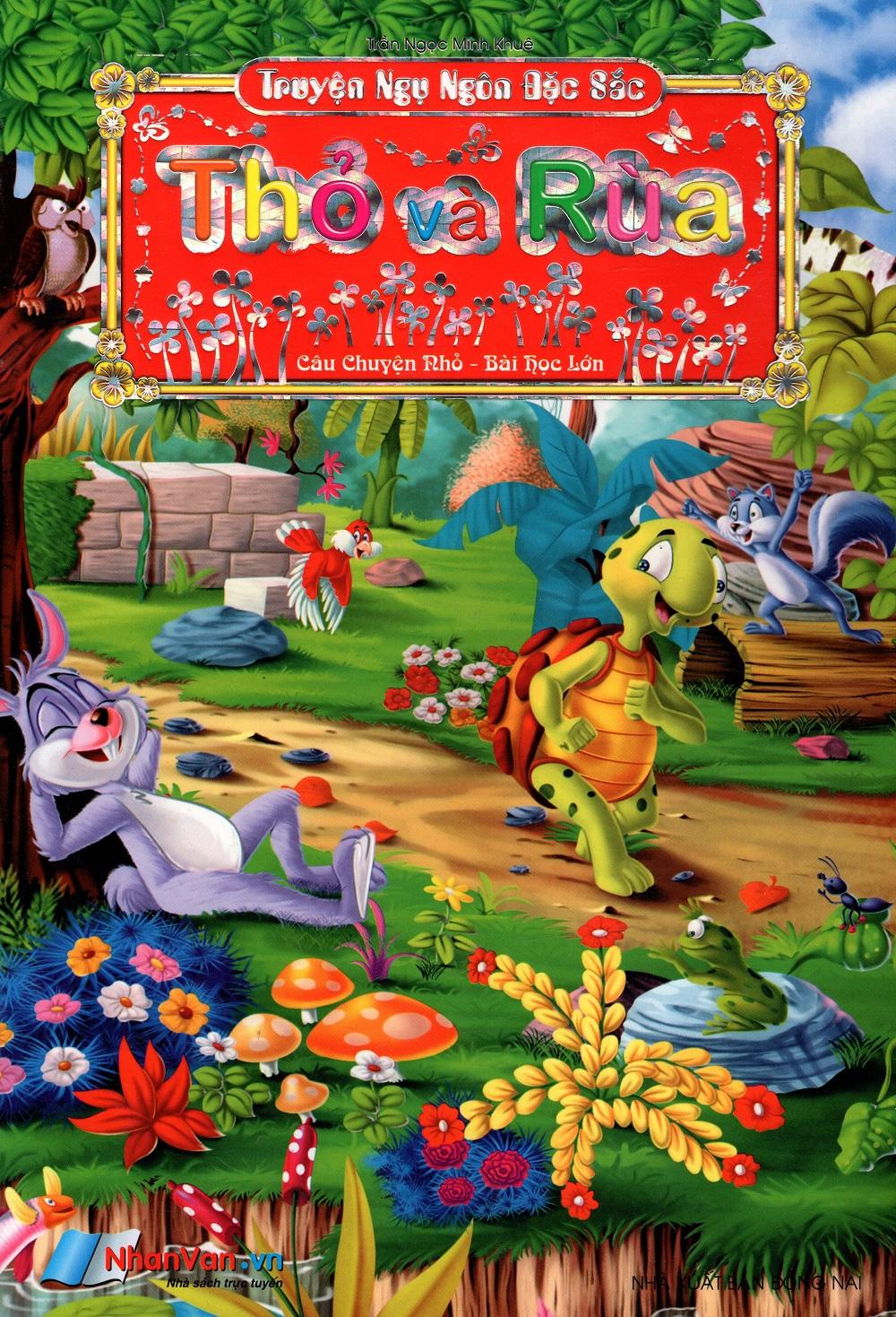 Bìa sách Truyện Ngụ Ngôn Đặc Sắc (Câu Chuyện Nhỏ - Bài Học Lớn) - Thỏ Và Rùa