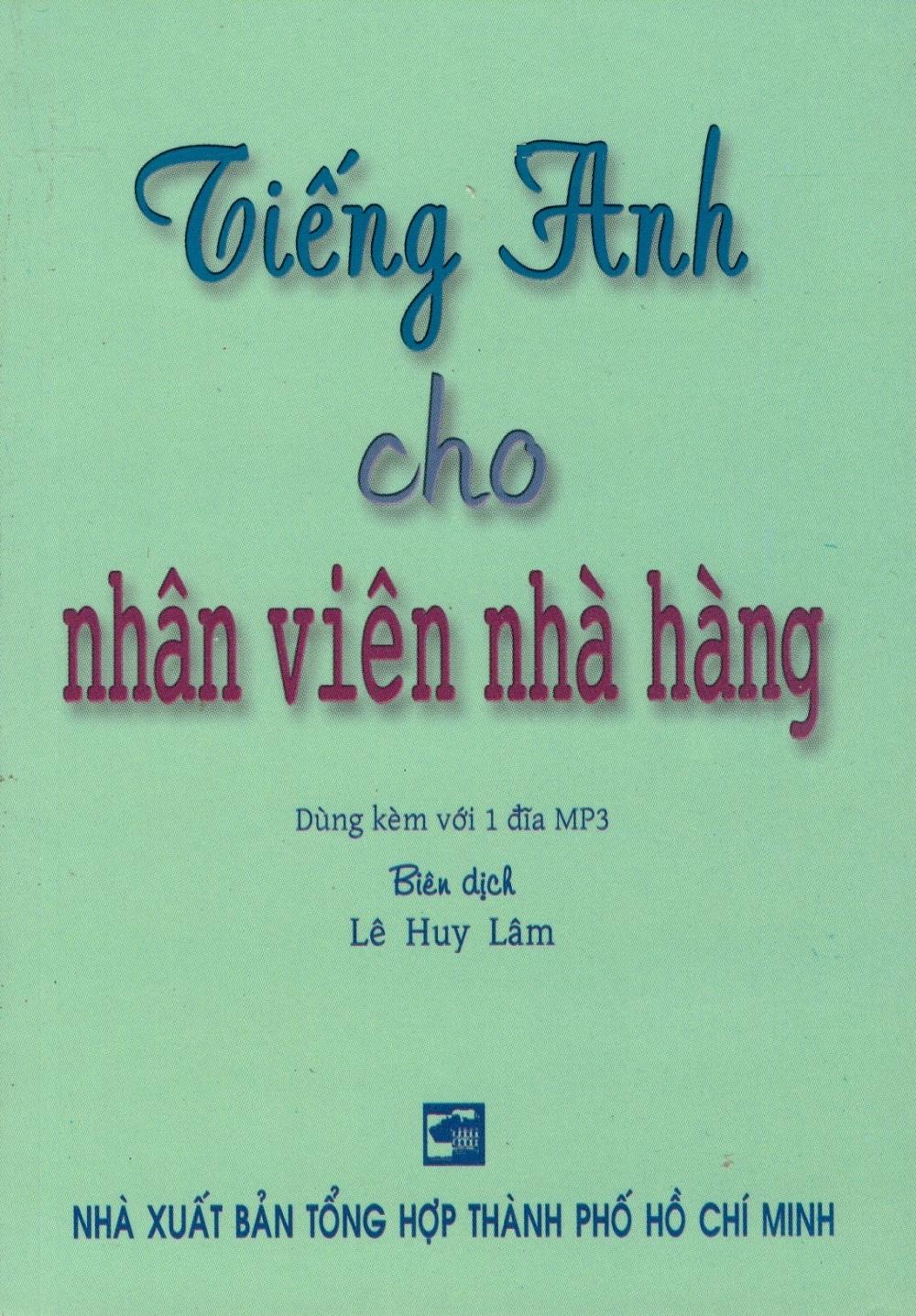 Bìa sách Tiếng Anh Cho Nhân Viên Nhà Hàng (Kèm CD) - Sách Bỏ Túi
