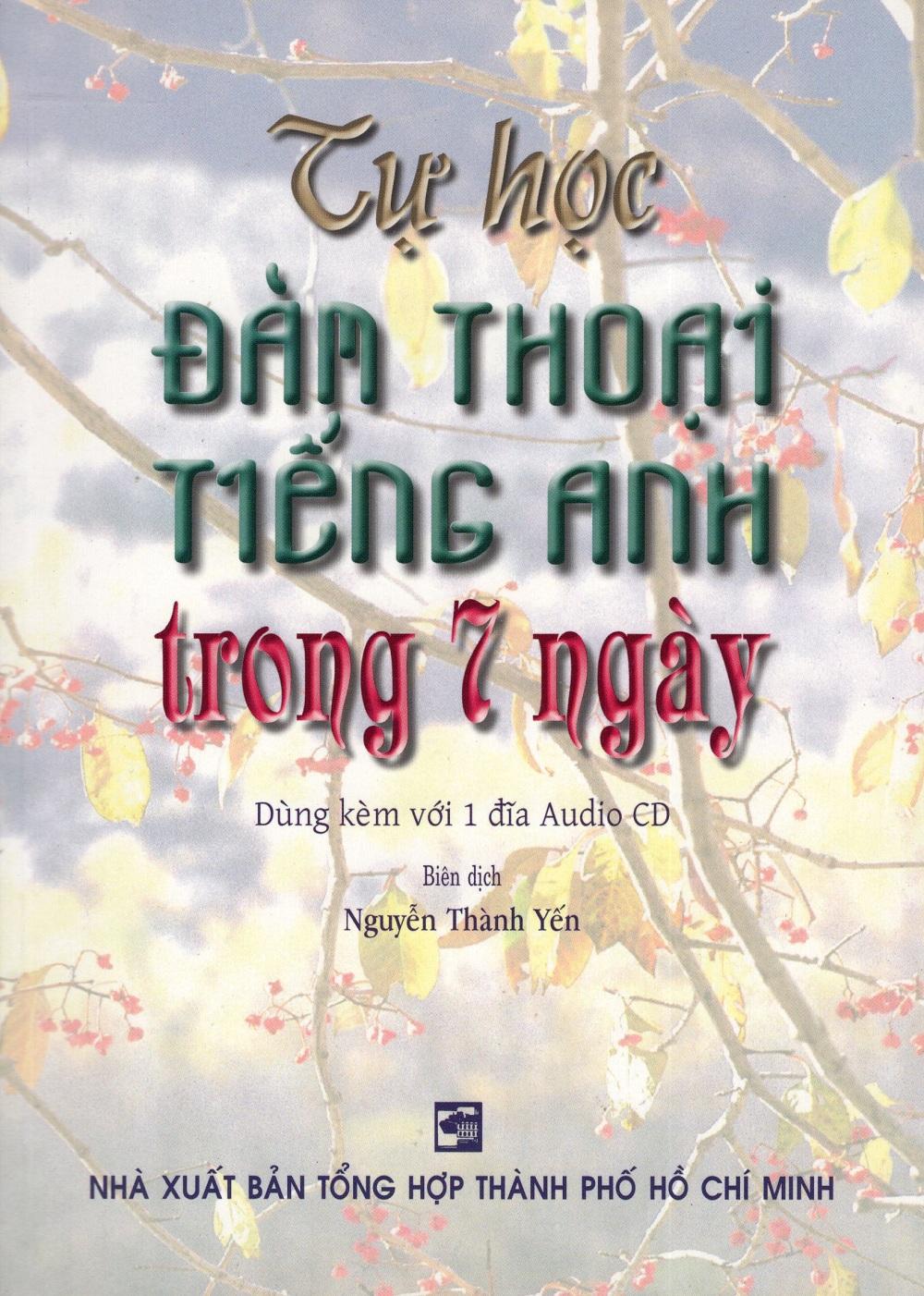 Bìa sách Tự Học Đàm Thoại Tiếng Anh Trong 7 Ngày (Kèm CD)