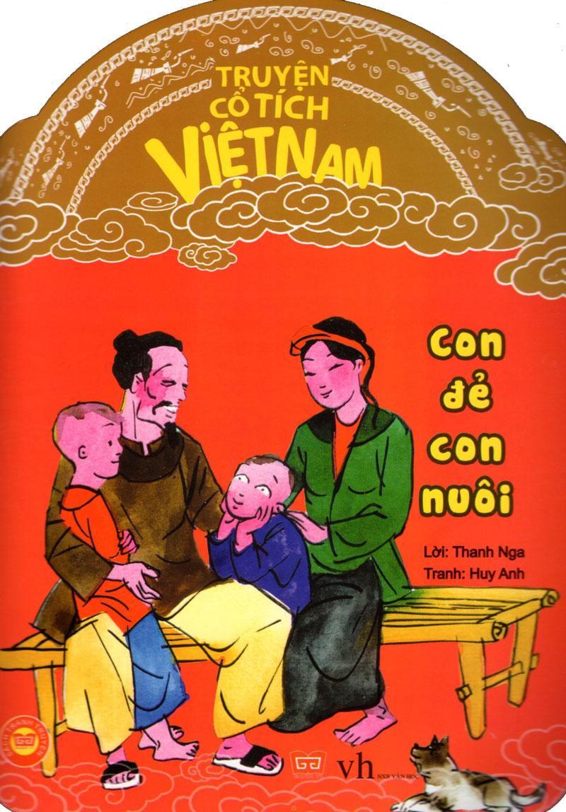 Bìa sách Truyện Cổ Tích Việt Nam - Con Đẻ Con Nuôi