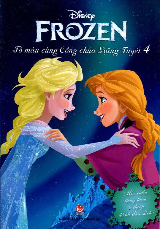 Review sách Frozen – Tô Màu Cùng Công Chúa Băng Tuyết (Tập 4)