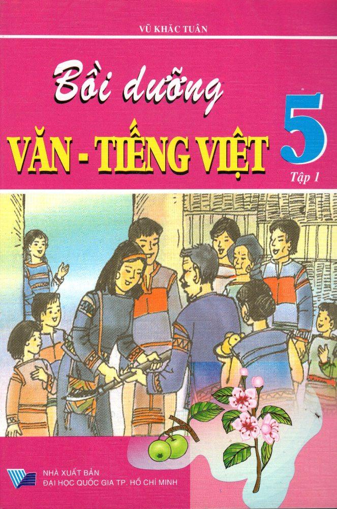 Bìa sách Bồi Dưỡng Văn - Tiếng Việt Lớp 5 (Tập 1) (Đức Trí)