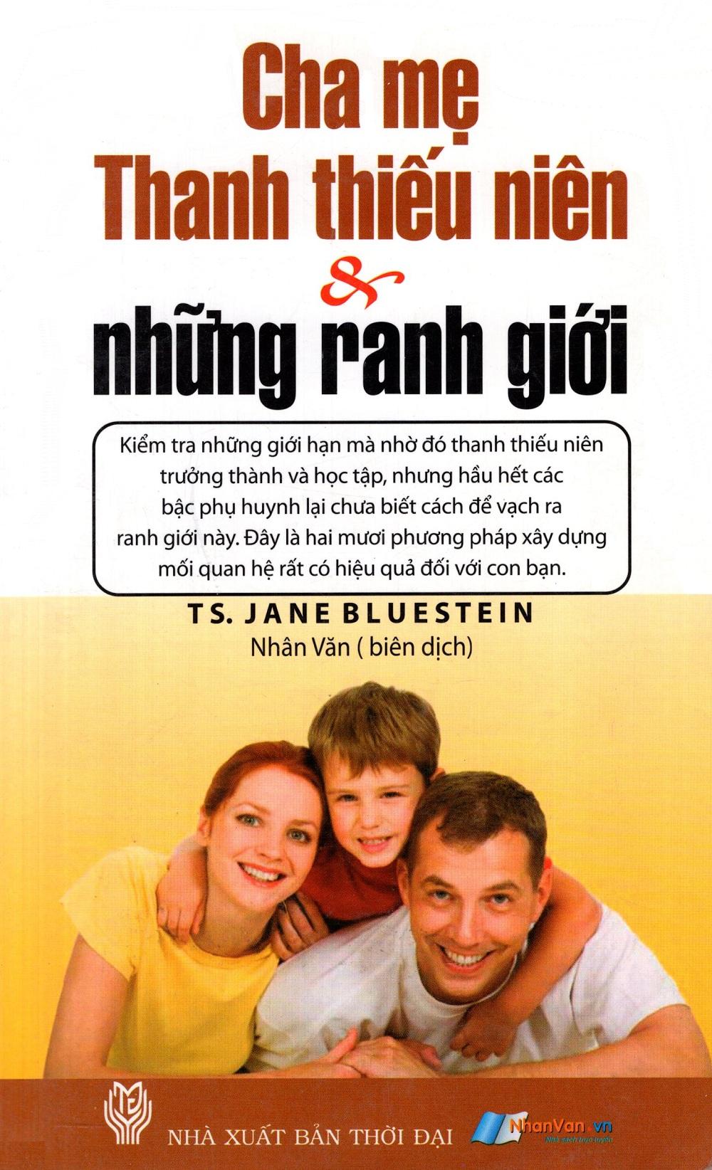 Bìa sách Cha Mẹ, Thanh Thiếu Niên  Những Ranh Giới