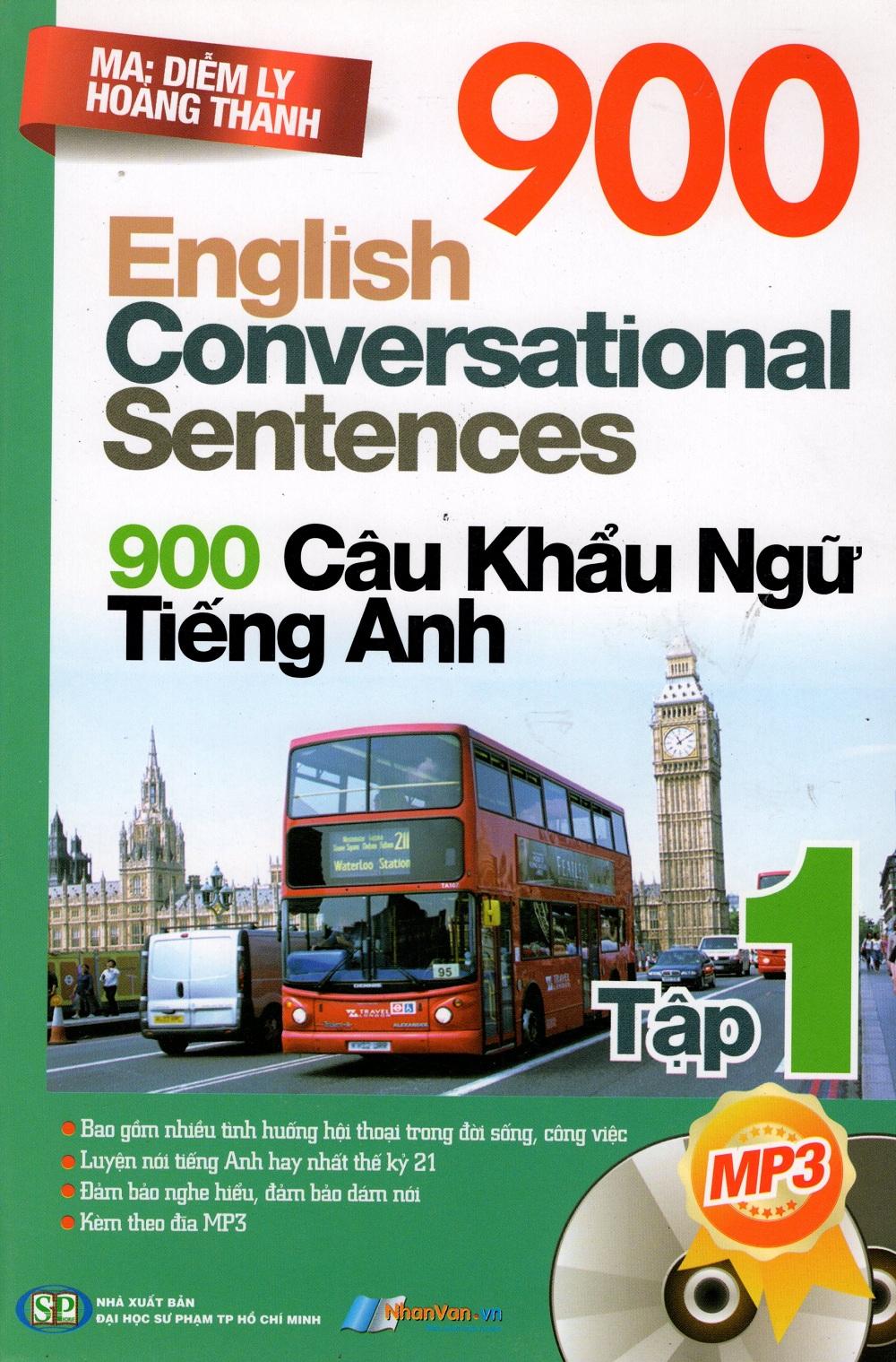 Bìa sách 900 Câu Khẩu Ngữ Tiếng Anh (Tập 1)