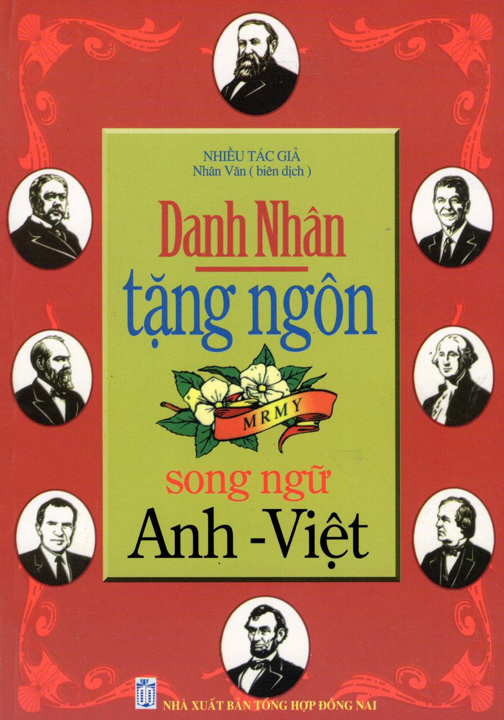 Bìa sách Danh Nhân Tặng Ngôn (Song Ngữ Anh - Việt)
