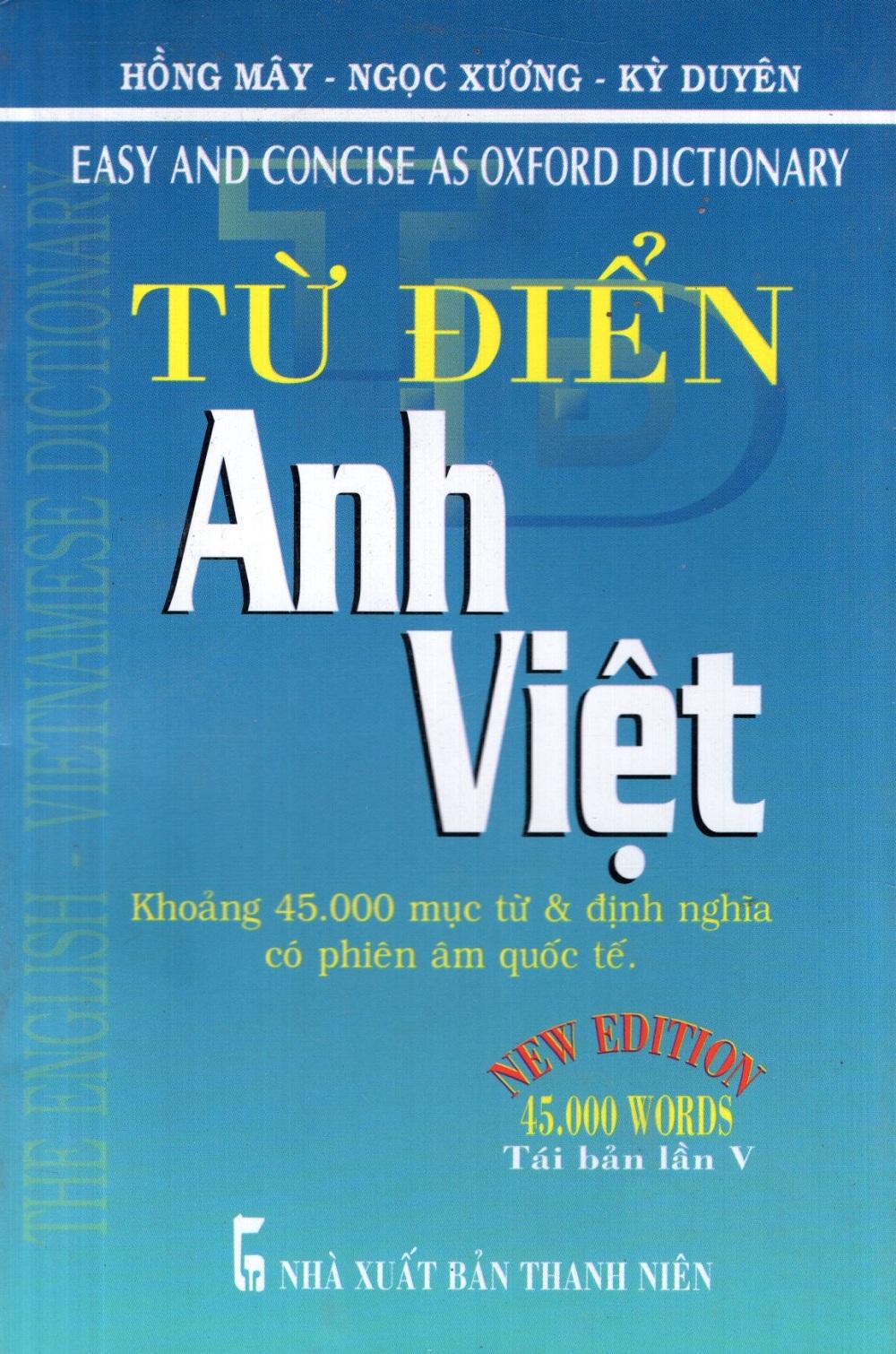 Bìa sách Từ Điển Anh - Việt (Khoảng 45.000 Từ) - Sách Bỏ Túi