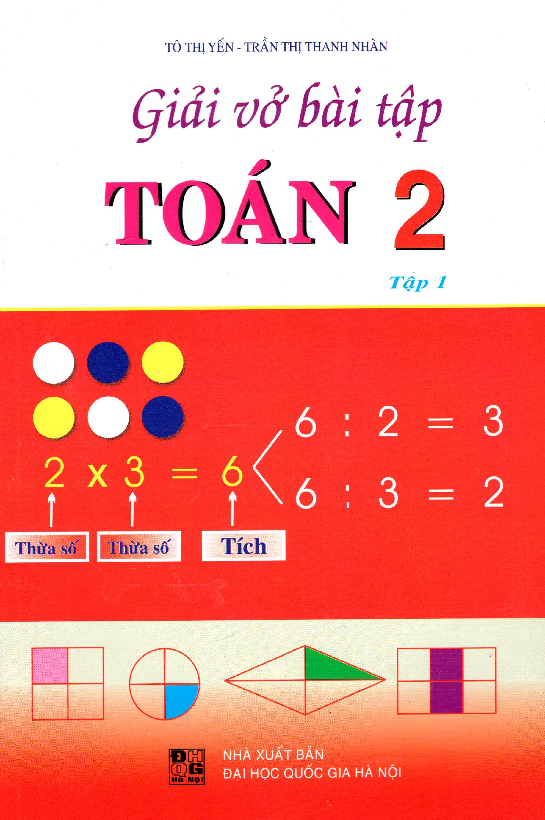 Bìa sách Giải Vở Bài Tập Toán Lớp 2 (Tập 1) (2015)