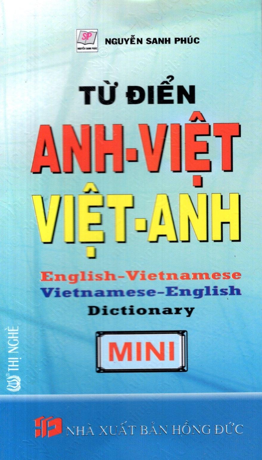 Bìa sách Từ Điển Anh - Việt, Việt - Anh - Sách Bỏ Túi