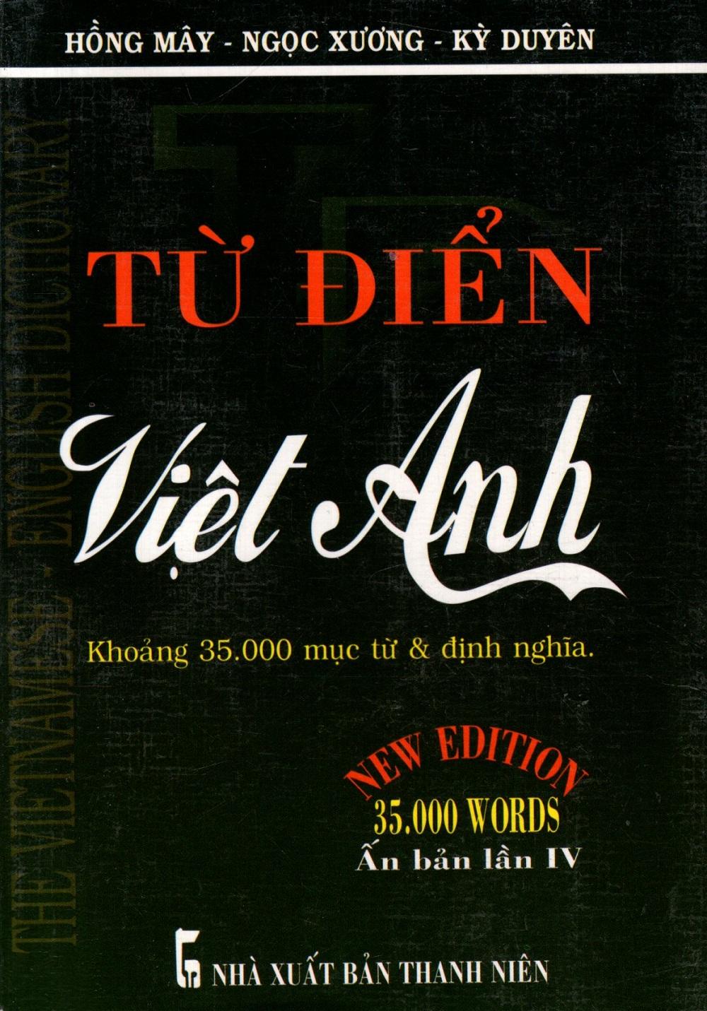 Bìa sách Từ Điển Việt - Anh (Khoảng 35.000 Từ) - Sách Bỏ Túi