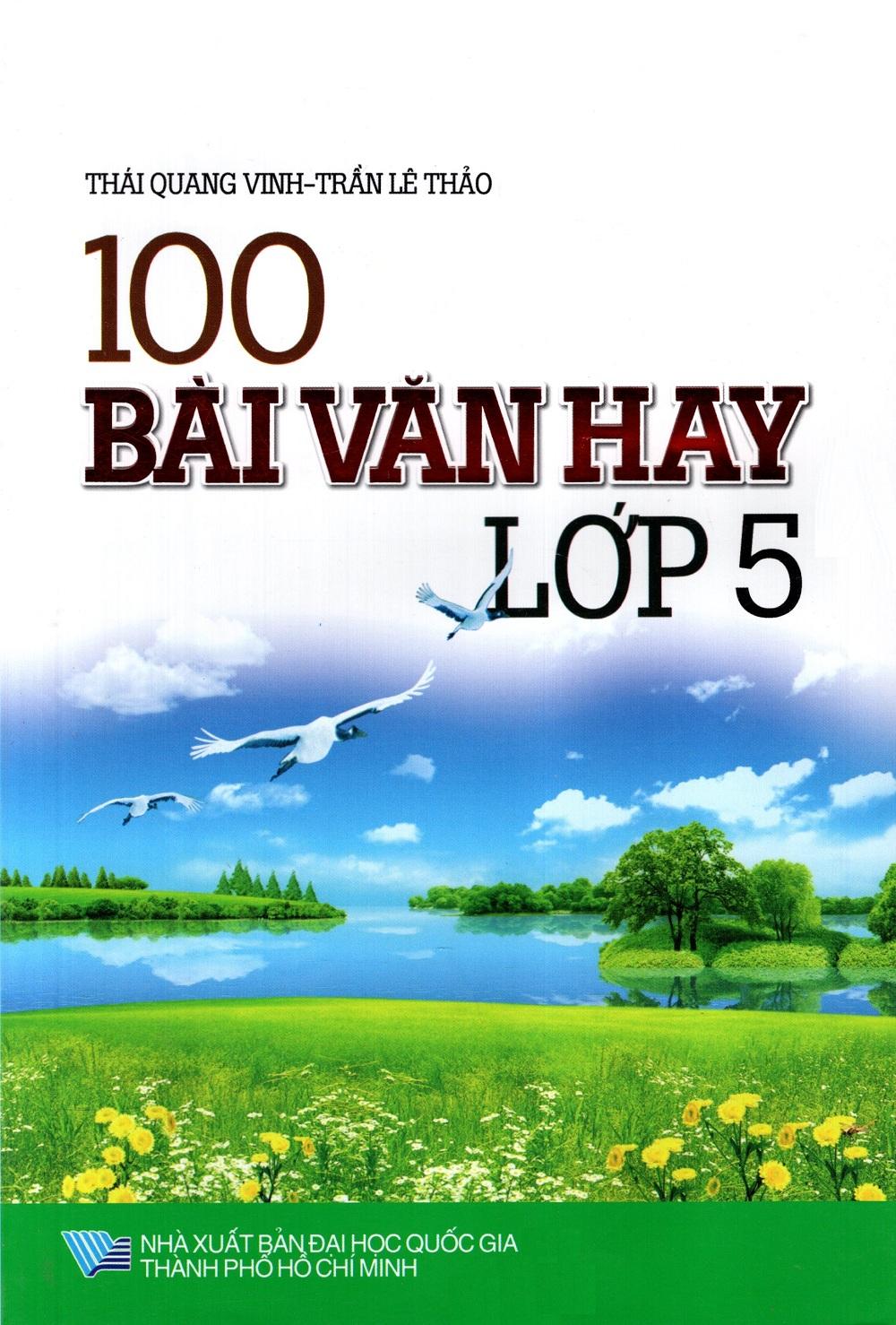 Bìa sách 100 Bài Văn Hay Lớp 5 (Minh Trí)