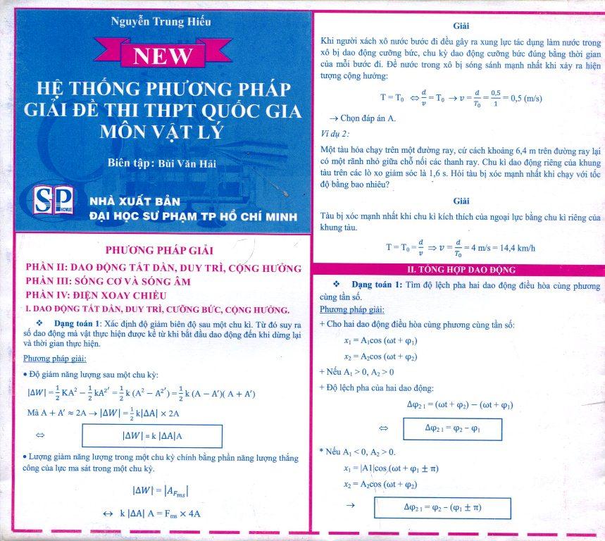 Bìa sách Bảng Hệ Thống Phương Pháp Giải Đề Thi THPT Quốc Gia Môn Vật Lý (2)