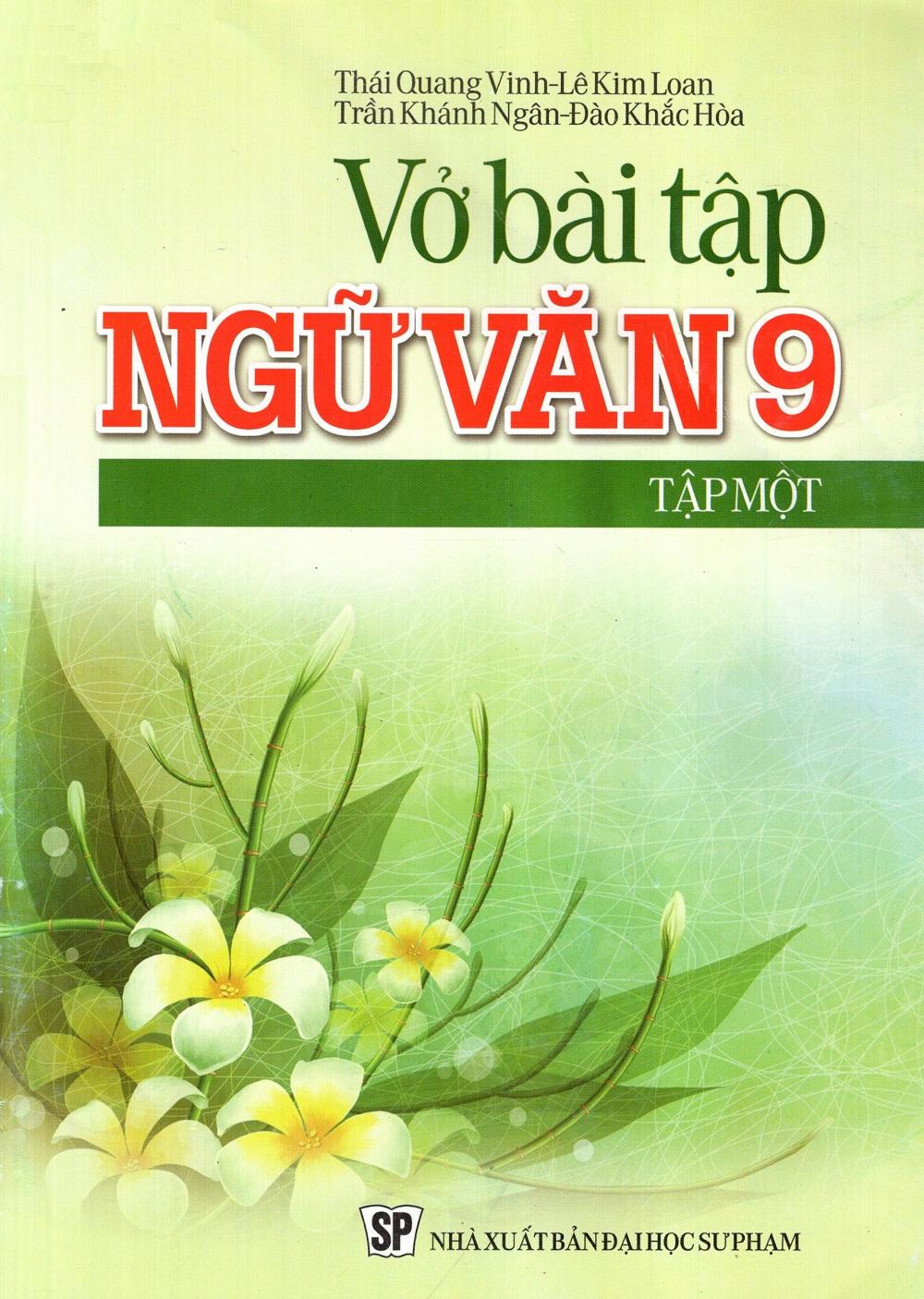 Bìa sách Vở Bài Tập Ngữ Văn Lớp 9 (Tập 1)
