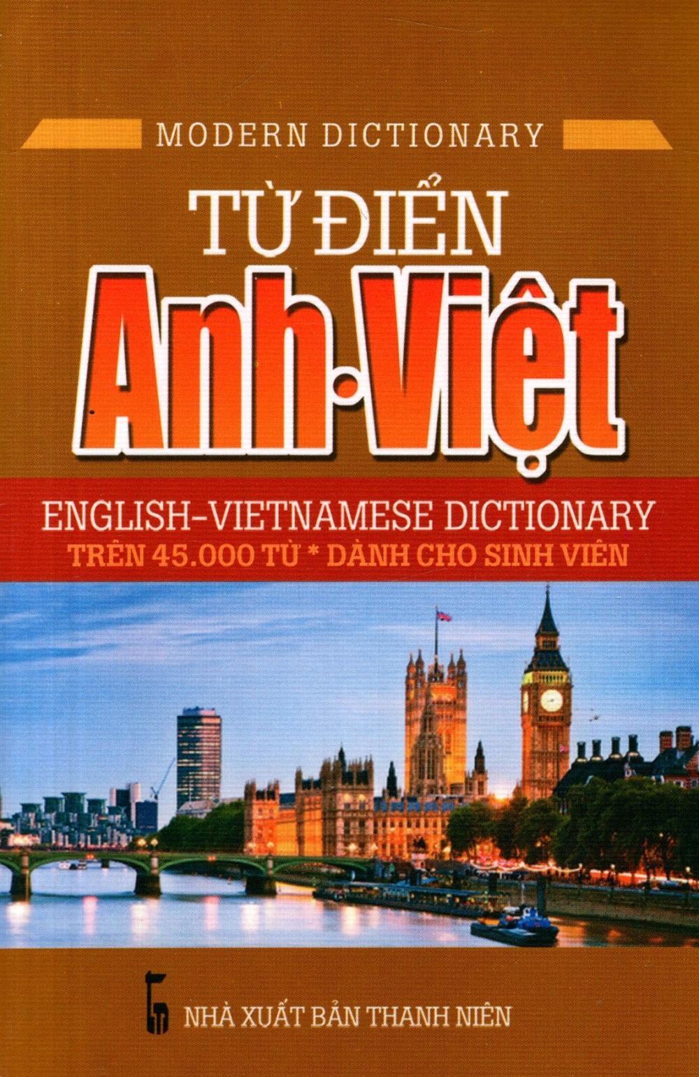 Bìa sách Từ Điển Anh - Việt (45.000 Từ) (Sách Bỏ Túi)