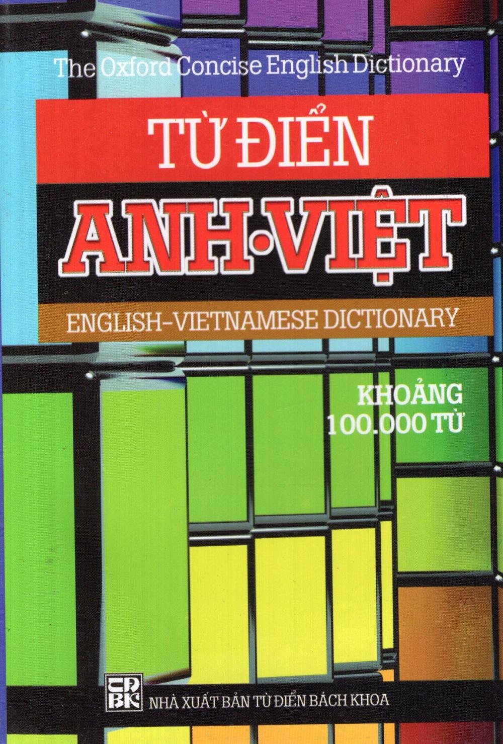 Bìa sách Từ Điển Anh - Việt (100.000 Từ) - Sách Bỏ Túi
