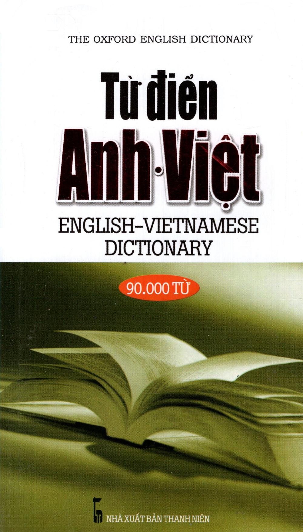 Bìa sách Từ Điển Anh - Việt (90.000 Từ) - Sách Bỏ Túi