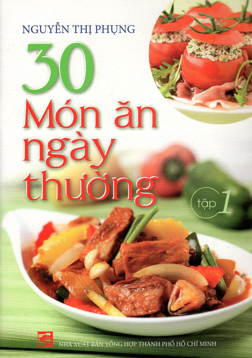 Bìa sách 30 Món Ăn Ngày Thường (Tập 1)