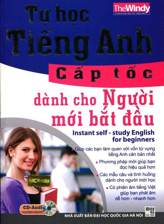 Bìa sách Tự Học Tiếng Anh Cấp Tốc (Kèm CD)