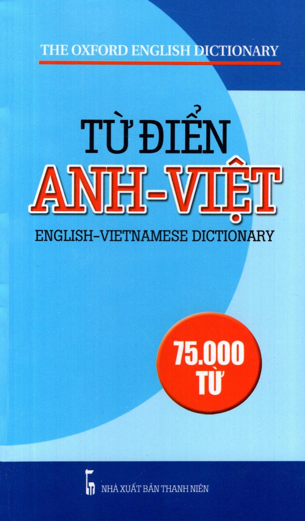 Bìa sách Từ Điển Anh - Việt (75.000 Từ) (2013) - Sách Bỏ Túi