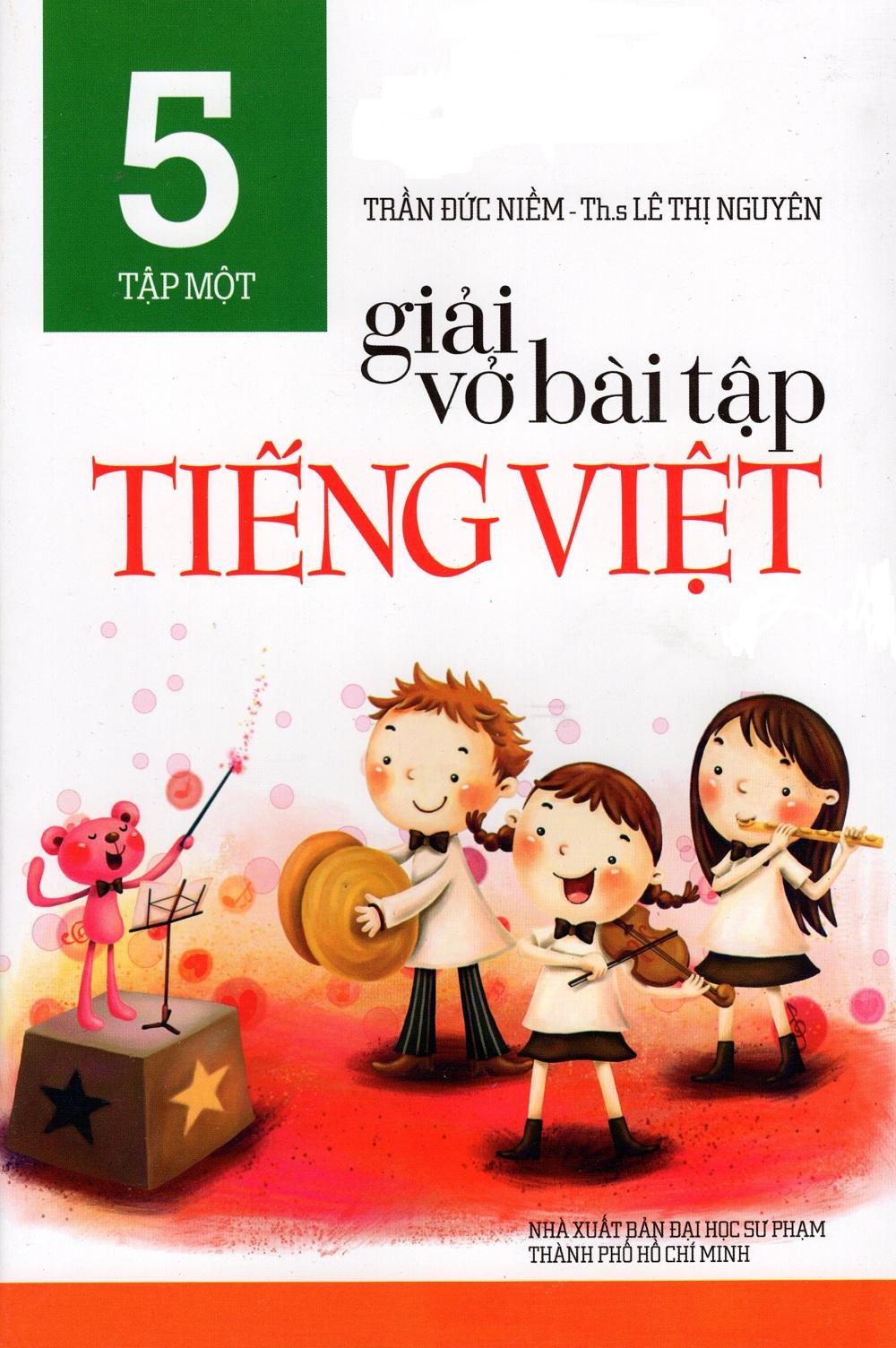 Bìa sách Giải Vở Bài Tập Tiếng Việt Lớp 5 (Tập Một)