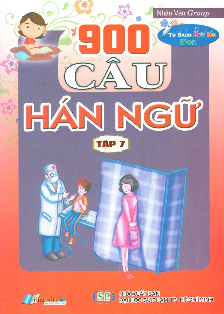 Bìa sách 900 Câu Hán Ngữ (Tập 7)