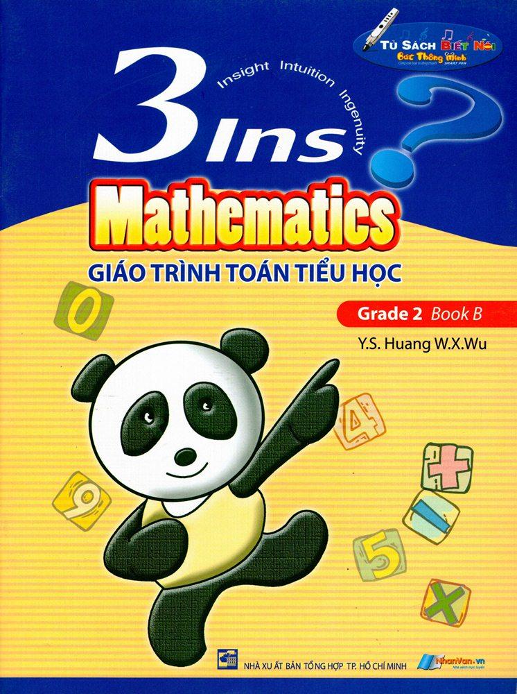 Bìa sách Giáo Trình Toán Tiểu Học - 3Ins Mathematics - Grade 2 Book B
