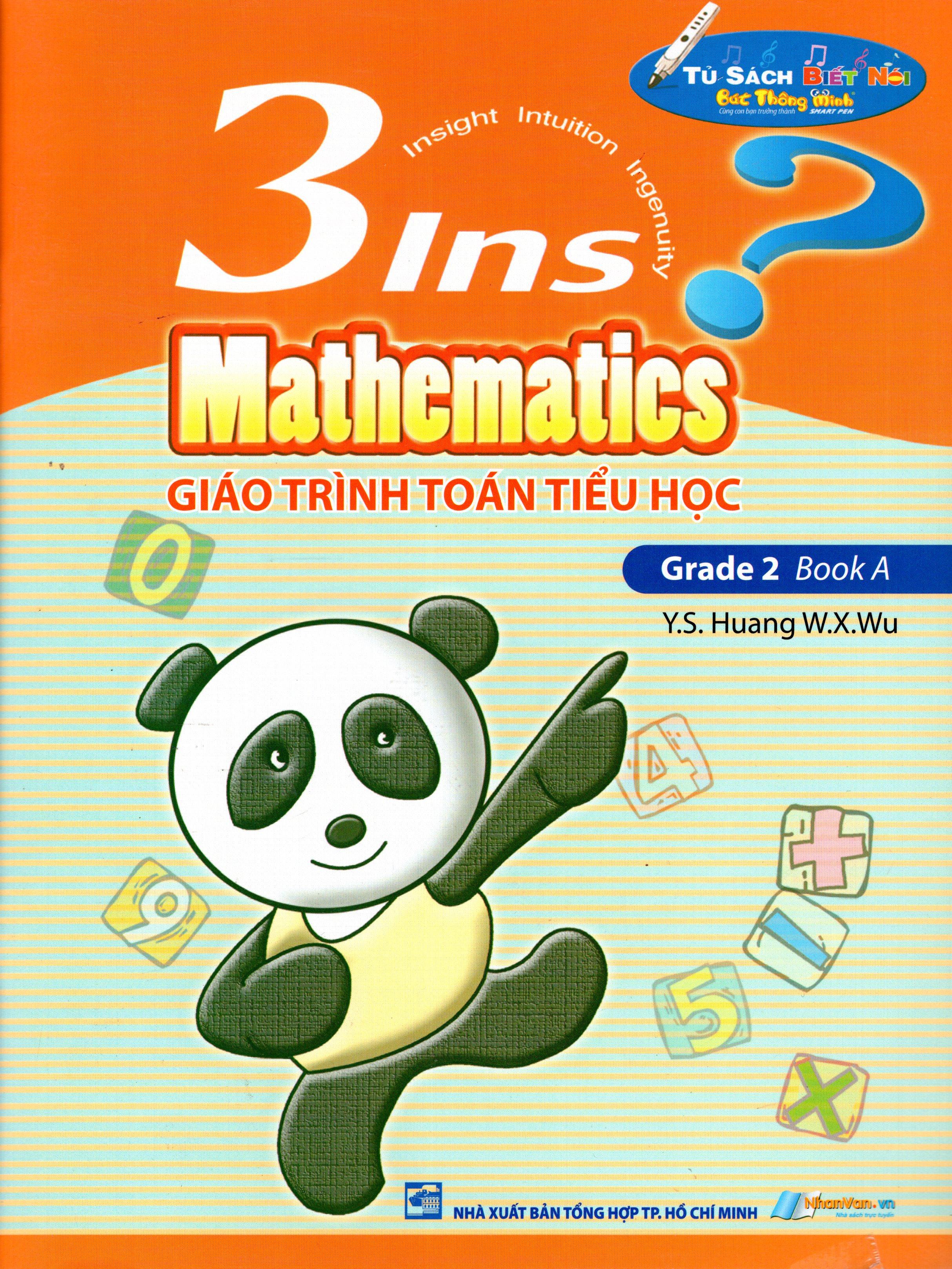 Bìa sách Giáo Trình Toán Tiểu Học - 3Ins Mathematics - Grade 2 Book A