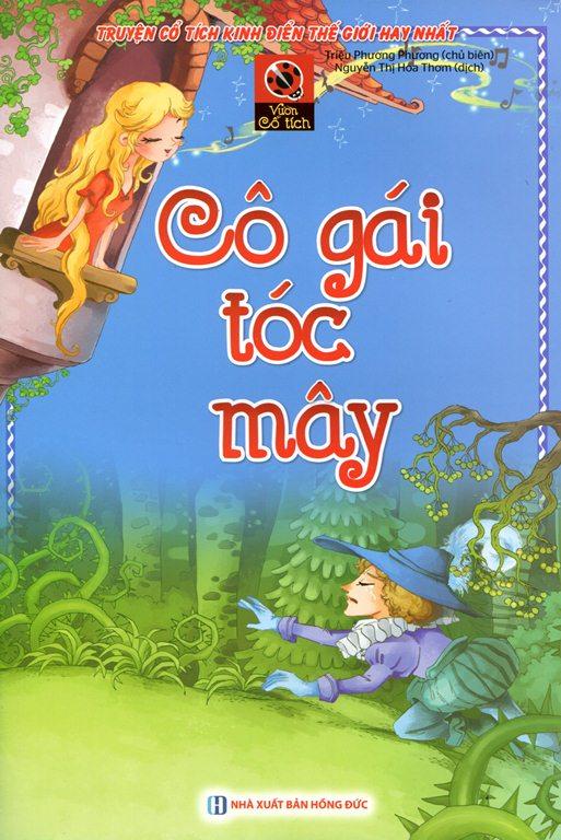 Bìa sách Vườn Cổ Tích - Cô Gái Tóc Mây
