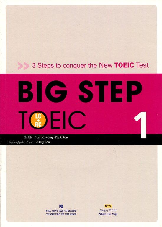 Bìa sách Big Step TOEIC 1 (LC + RC) - Kèm CD