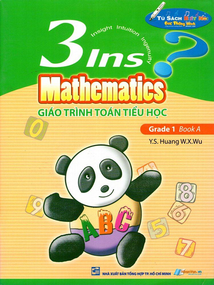 Bìa sách Giáo Trình Toán Tiểu Học - 3Ins Mathematics - Grade 1 Book A