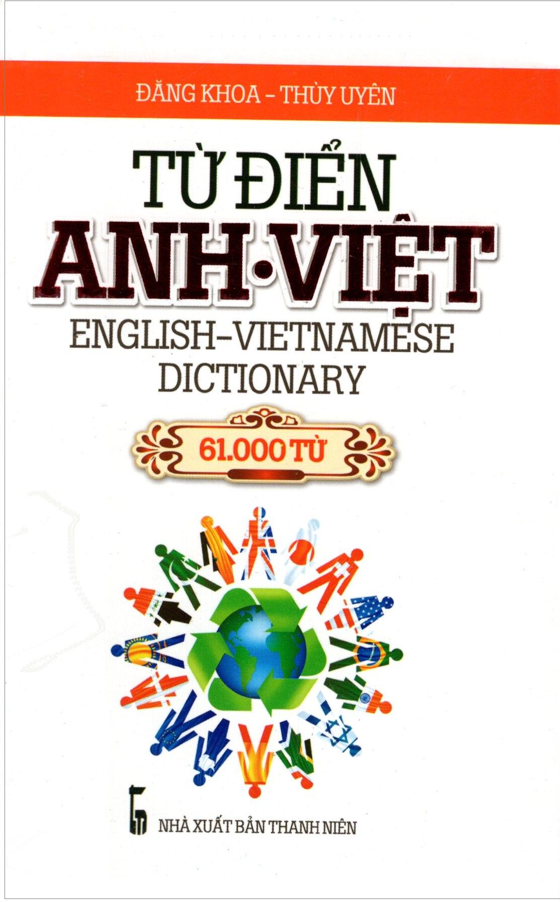 Bìa sách Từ Điển Anh - Việt (61.000 Từ) - Sách Bỏ Túi