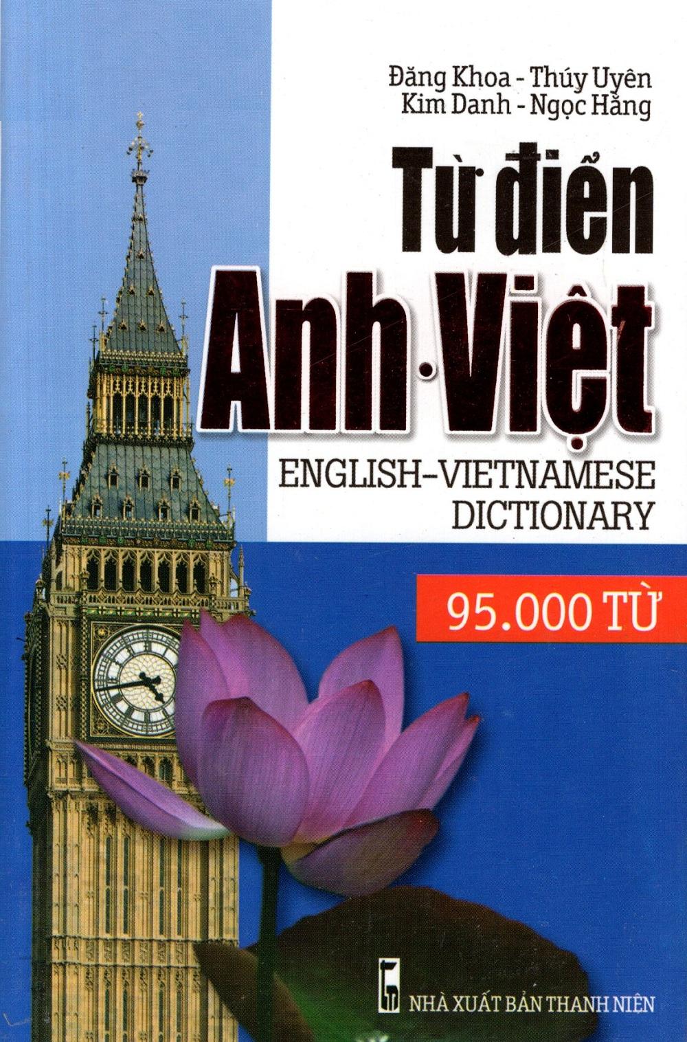 Bìa sách Từ Điển Anh - Việt (95.000 Từ) - Sách Bỏ Túi