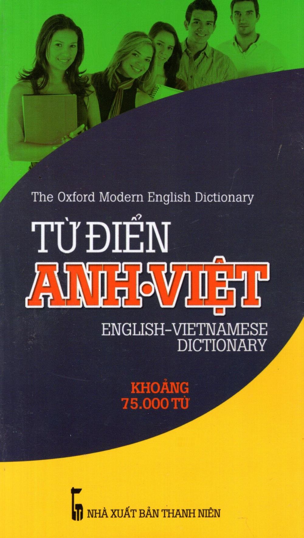 Bìa sách Từ Điển Anh - Việt (Khoảng 75.000 Từ) - Sách Bỏ Túi