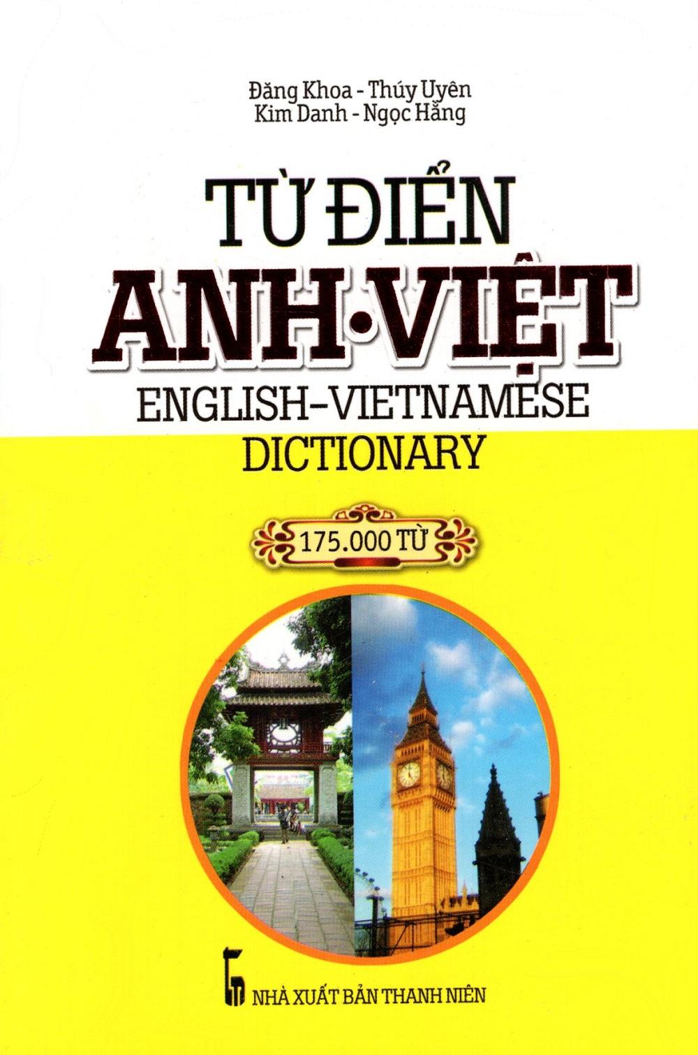 Bìa sách Từ Điển Anh - Việt (175.000 Từ) - Sách Bỏ Túi